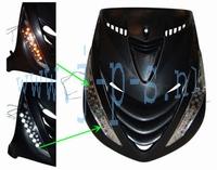 KNIPPERLICHT/DAGRIJ LED SET VOOR CHROOM ZIP 2000 BLANK GLAS