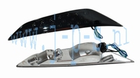 KNIPPERLICHT/DAGRIJ LED SET VOOR CHROOM ZIP 2000 SMOKE GLAS