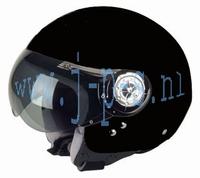 HELM NITRO RETRO X-540 ZWART M