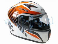 HELM STAGE 6 RACING MK 2 WIT/ORANJE L