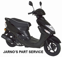 TURBHO CS-50-B  SNOR-SCOOTER ZWART 25KM