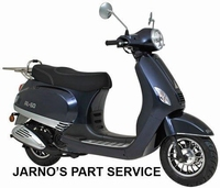 TURBHO RL-50 ( MODEL LX ) BROM-SCOOTER DONKER BLAUW 45KM