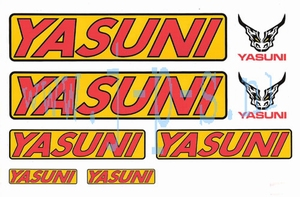 YASUNI STICKERSET GEEL/ROOD 290 X 180 MM