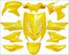 KAPPENSET AEROX DMP 11 DELIG GEEL