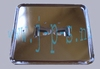 KENTEKENHOUDER CHROOM METAAL RECHTHOEK 145 X 126 MET VOETJES