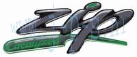 "STICKER 3D WOORD ""ZIP catalyzed"""